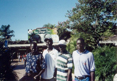 Benson, Benjamin, Lino and Alepho at San Diego Zoo 2001.