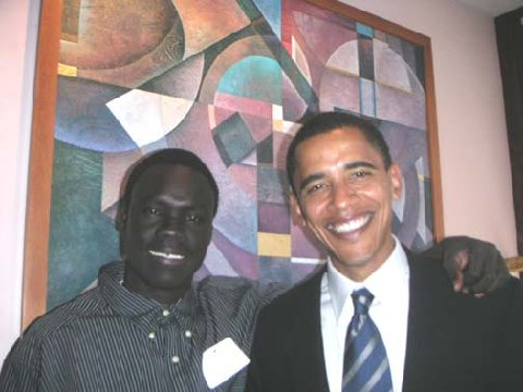 Alepho with Barack Obama when he ran for senator.