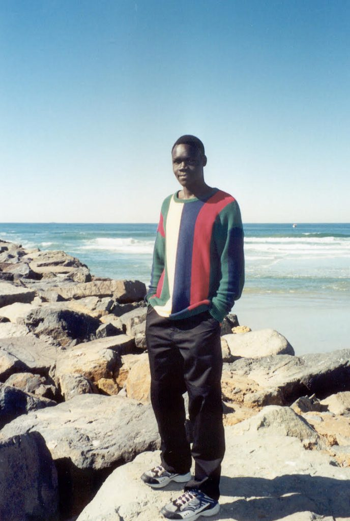 Alepho on the beach in San Diego 2002.